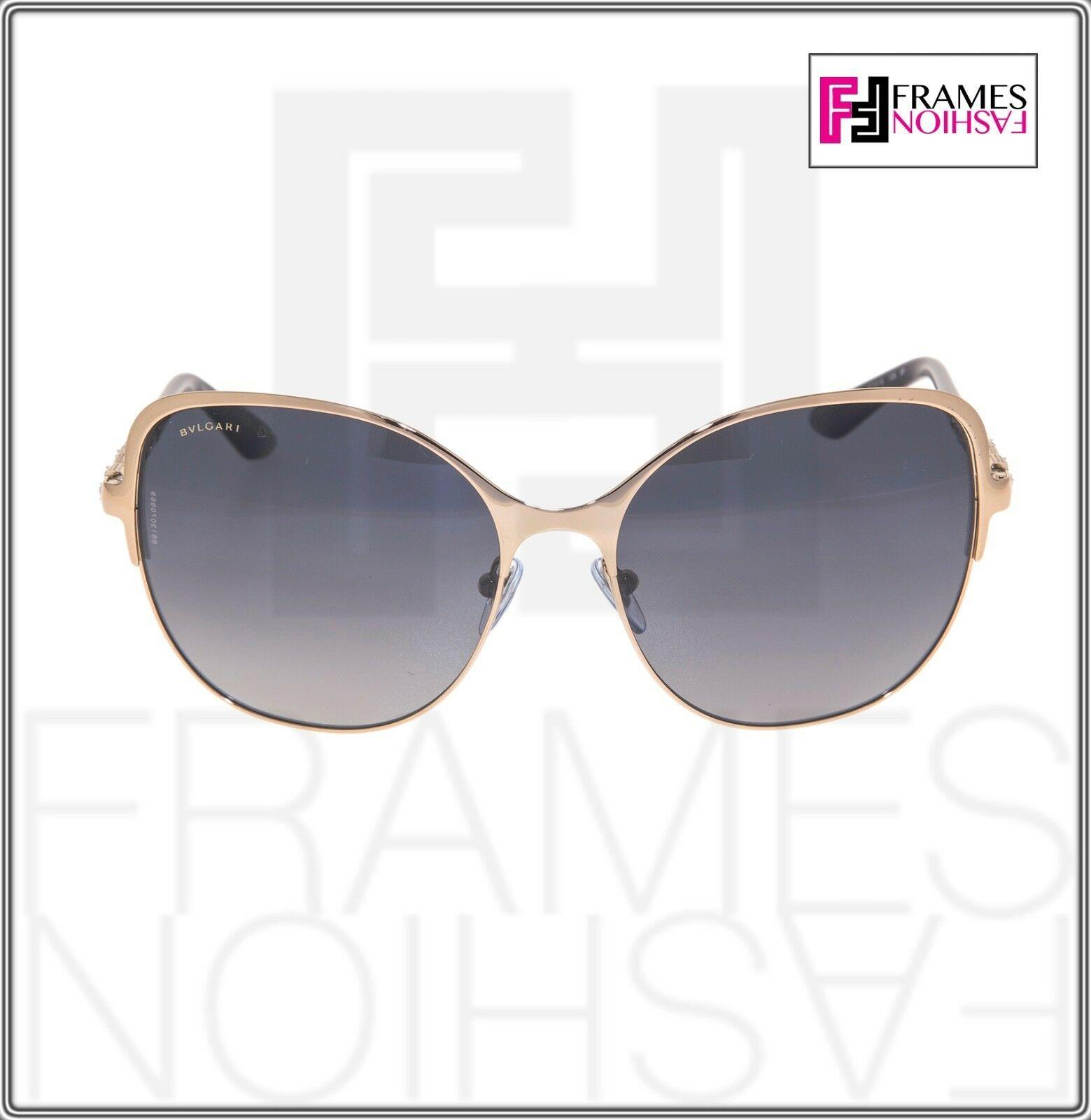 BVLGARI Le Gemme BV6078KB Black Gold 18K Plated POLARIZED Sunglasses 6078 Women image 6