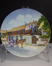 "Vintage Handpainted OLDEST HOUSE St. Augustine, Florida 9.5"" Wall Plate ... - $9.16"