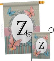 Butterflies Z Initial - Impressions Decorative Flags Set S130156-BO - $57.97