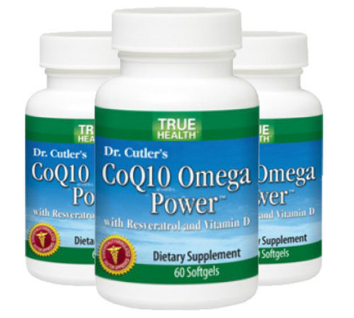 CoQ10 Omega Power with Resveratrol 3 Pack by True Health