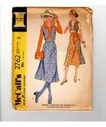 1971 McCalls 2762 Groovy Hippie Boho Skirt Blouse Bolero Vest Dress 12 - $10.40