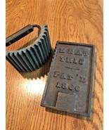 Antique Vintage Cast Iron Ruffle Maker Fluted Sad Iron Crimper Press 186... - $64.34
