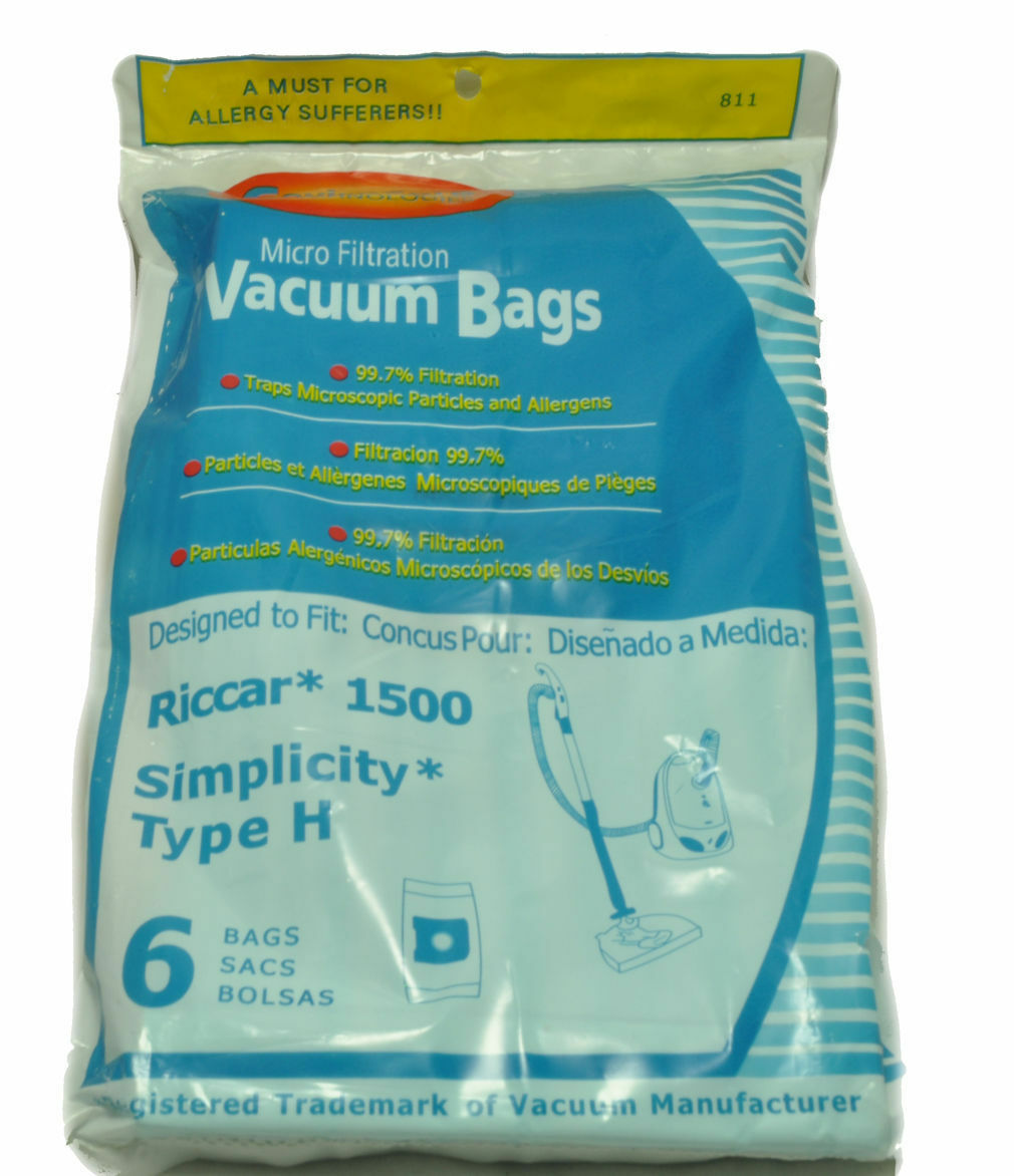 Primary image for Riccar 1500, Simplicity Style H Canister Vacuum Bags