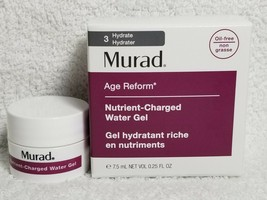 Murad Age Reform Nutrient-Charged WATER GEL Hydrate #3 Oil-Free .25 oz/7.5mL New - $8.41