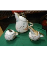 Beautiful Butterfly Design  HULL Art Pottery TEA SET...Tea Pot, Sugar & Creamer - $114.43