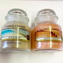 Yankee Candle Sun & Sand Golden Sands Bundle 3.7 Ounce Free Ship New - $24.18