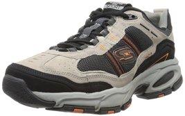 Skechers Sport Men's Vigor 2.0 Trait Memory Foam Sneaker, Taupe/Black, 9... - $64.99