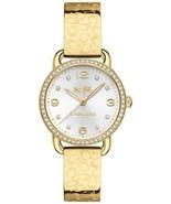 COACH WOMEN'S DELANCEY GOLD-TONE STAINLESS STEEL BRACELET WATCH 28MM 14502354 - $135.00