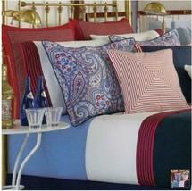 American Living Bay Harbor Club King Bedskirt Navy Blue W Red Trim Ralph Lauren - $34.62