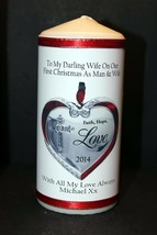"Personalised gift  Wife Christmas candle large 6""inch  #1 - $13.34"