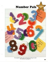 Plastic Canvas Patterns - Number Pals - Younger Set - All-Stars - $2.25
