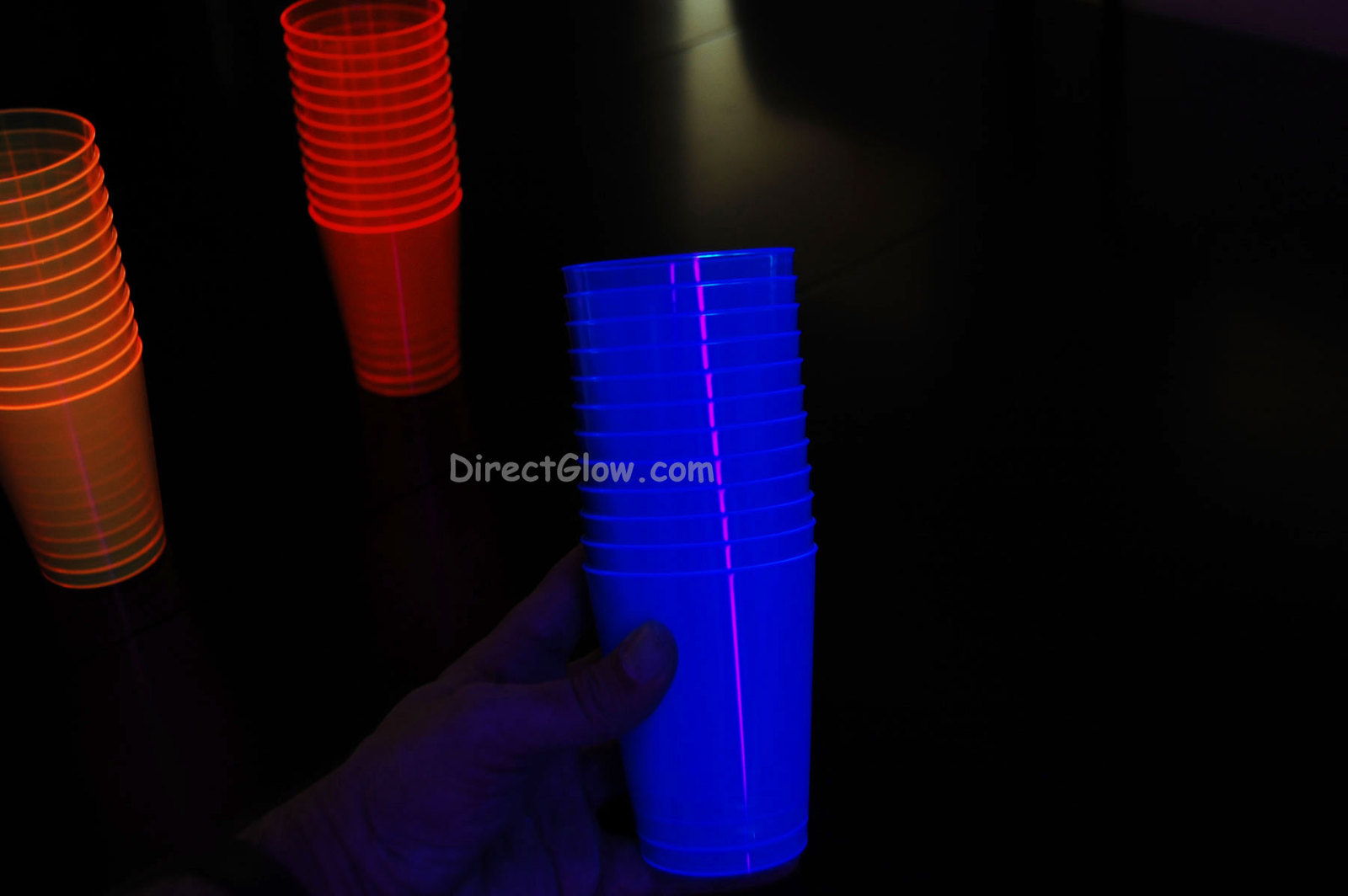 Assorted Neon Blacklight Reactive 10oz Party Cups 50ct