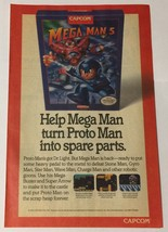 Mega Man 5 Nintendo NES Capcom Ad Advertisement - $6.89