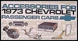 1973 Chevrolet Chevy Accessories Accessory Sales Brochure Original GM 73 - $3.61