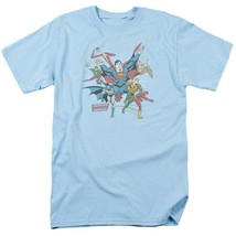 Justice League of America JLA Superman Aquaman Hawkman graphic t-shirt DCO441 image 2
