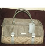 ❤️MURANO Olive Microsuede Tapestry Leather Travel Carry-On Duffle Bag EX... - $38.00
