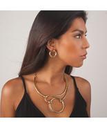 "Karine Sultan Classic ""Mia"" Gold Geo Bib Circle Necklace - $69.90"
