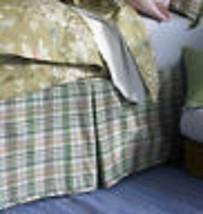 """Ralph Lauren """"Monitecito"""" 1pc Solid Black Linen Queen Bedskirt Nip Rare Item - $98.99"""