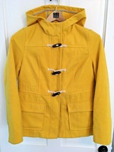 OLD NAVY Yellow Polyester duffle toggle button Pea coat Girl's SIZE M - $16.44