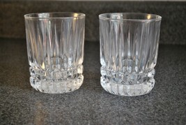Fostoria Heritage Clear Double Old Fashion Glasses set of 2 - $18.69