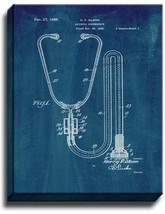 Stethoscope Patent Print Midnight Blue on Canvas - $39.95+