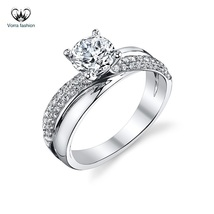 Women's Engagement Ring Round Cut CZ 925 Sterling Silver 14k White Gold ... - $78.99