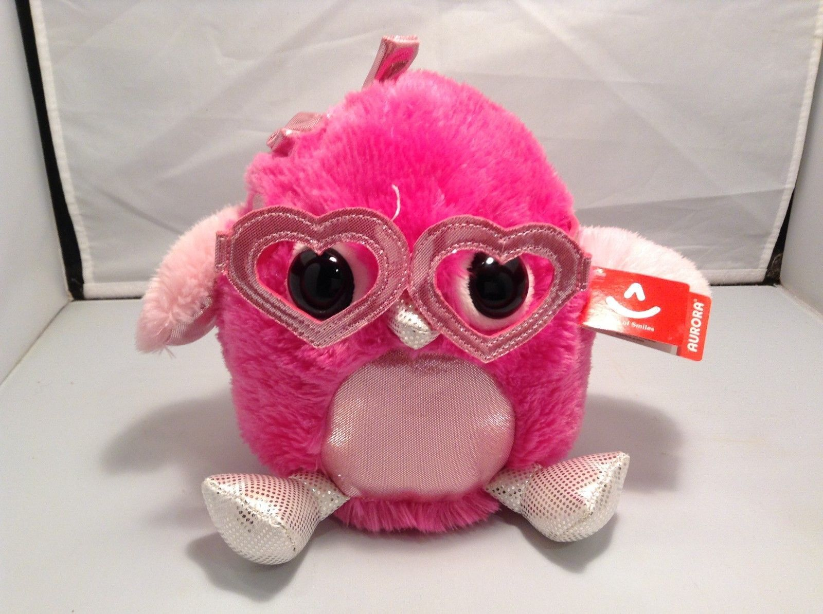 NEW Aurora Pink Lookin' Lovely Owl Plush Toy