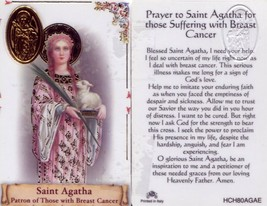 Prayer to Saint Agatha - EB972 - For Those Suffering Breast Cancer Holy ... - $2.79