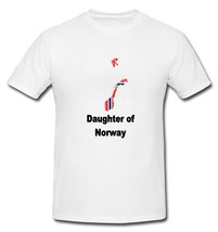 Daughter of Norway Norweigan Map Flag Country T-shirt New White S M L XL - $20.00