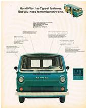 Vintage 1965 Magazine Ad GMC Trucks Handi-Van Has 7 Great Features & Low Priced - $5.93