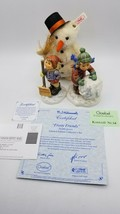 Hummel Frosty Friends Collector's Set w/ Steiff Snowman - Box & COA - New - $202.90