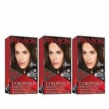Revlon Colorsilk Beautiful Color, Permanent Hair Dye, 20 Brown Black, Pa... - $12.49