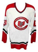Custom Name # Cleveland Barons Retro Hockey Jersey New White Any Size image 4