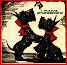 Scottie Dogs Vintage Christmas Images on CD - $15.00