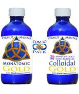 8 oz MONATOMIC GOLD ORMUS + 8 oz COLLOIDAL GOLD COMBO PACK!! Boost IQ DN... - $65.99