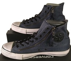 Converse John Varvatos Chuck Taylor Double Zip Hi Sneaker INK DENIM BLUE... - $59.95