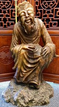 """LARGE (35"""") Chinese Hand-Carved Natural Agate Alabaster Statue - VERY OLD  RARE! - $9,702.00"""