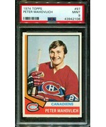 1974 TOPPS #97 PETER MAHOVLICH CANADIENS POP 11 PSA 9 H2723791-106 - $29.70