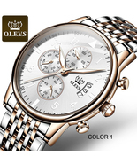 OLEVS 2869 Personalized men quartz watches custom logo dial chrono water... - $77.96+
