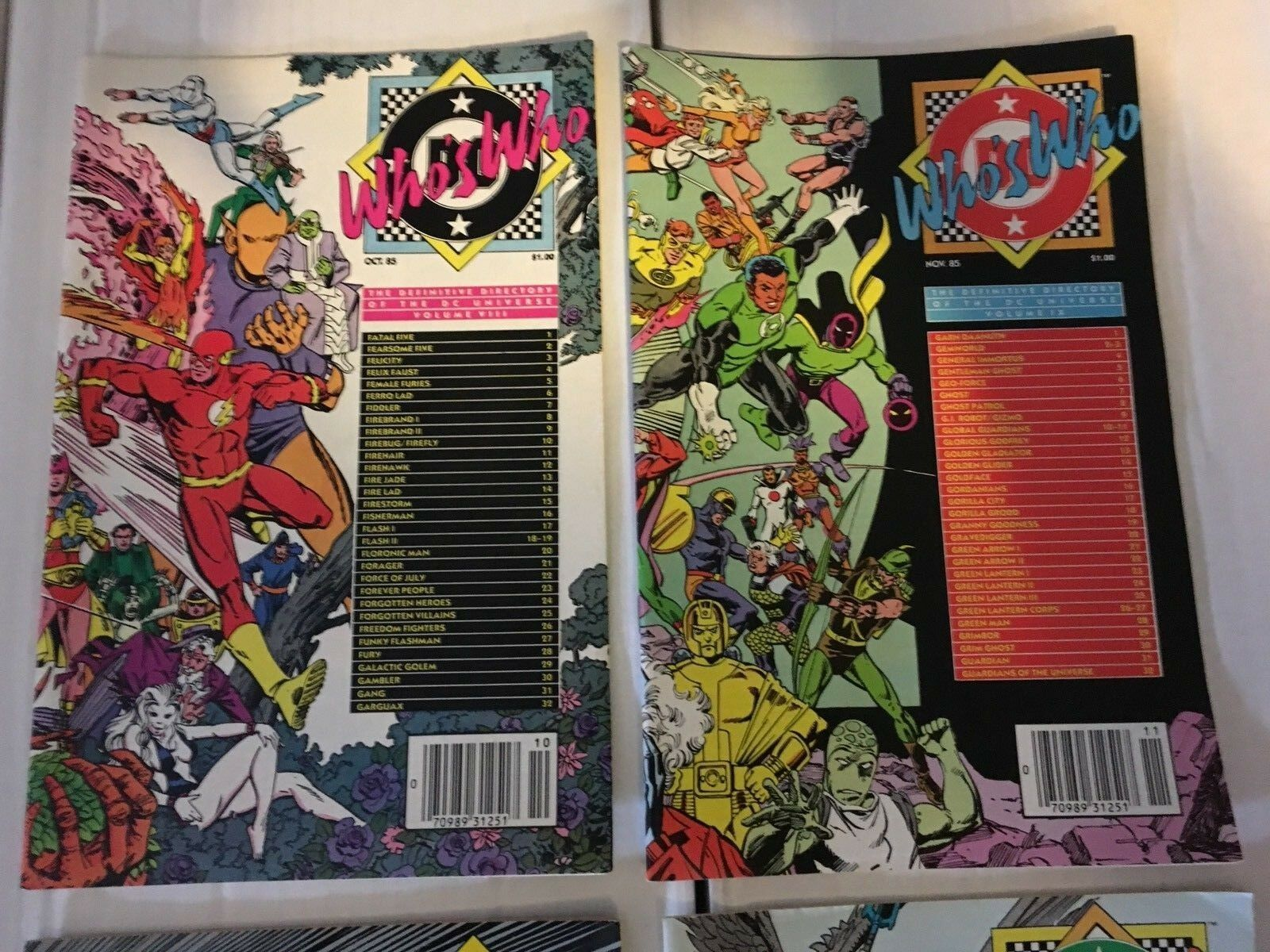 Who's Who #8 9 10 11 DC Comic Book Lot Of 4 1986-87 LOT /  Run VF+/NM Condition