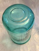 Vintage Unusual Dark Aqual Blue Glass Vase - See Pictures for better Description image 2