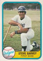 1981 Fleer Steve Garvey #110 Los Angeles Dodgers San Diego Padres Baseba... - $1.66