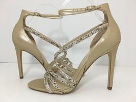 Ivanka Trump Hyde Women's High Heels Sandals Nude Platino Leather Size US 7.5 M - $39.60