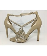 Ivanka Trump Hyde Women's High Heels Sandals Nude Platino Leather Size U... - $39.60