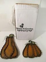Home & Garden Party Metal Harvest Standing Pumpkins Halloween Set of 2 - $11.87