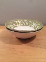 """Set of 2 vintage 60s J & G Meakin Renaissance (green) pattern  6 1/4"""" bowls image 1"""