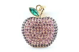 Purple Apple Fruit Keychain Crystal Charm Animal Purse Gift Cute #MCK11 - $18.17