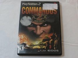 Commandos 2 Hommes De Courage Playstation 2 PS2 T-Teen 2002 Vidéo Jeu - $16.20