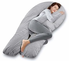 AngQi 65-inch Full Body Support Pillow with Washable Jersey Cover, U Sha... - $61.41