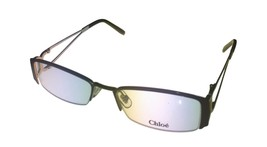 Chloe Ophthalmic Frame Black Silver Bottom Rimless  Rectangle Metal CL12... - $44.99